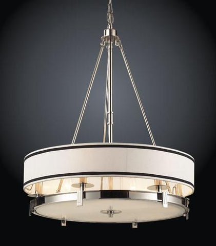 ELK Lighting 1624-6 Six Light Pendant Lightin Polished Nickel - PeazzLighting