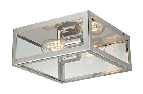 ELK Lighting Parameters-Nickel 2- Light Semi-Flush In Polished Chrome - 31211/2 - PeazzLighting