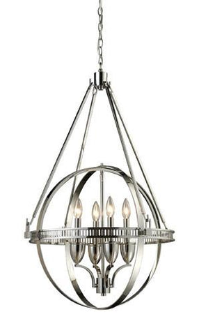 ELK Lighting Lighting 10192-4 Hemispheres Four Light Chandelier In Polished Nickel - PeazzLighting