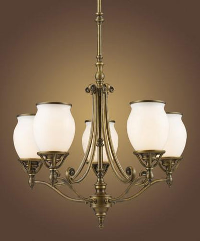 ELK Lighting Lighting 11049-5 Williamsport Five Light Chandelier In Vintage Brass Patina - PeazzLighting