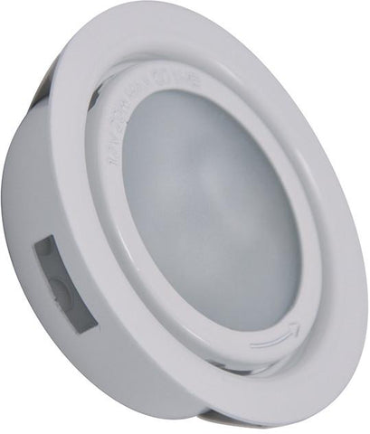 Cornerstone A710DL/40 Aurora 1 Light Recessed Disc Light In White - PeazzLighting