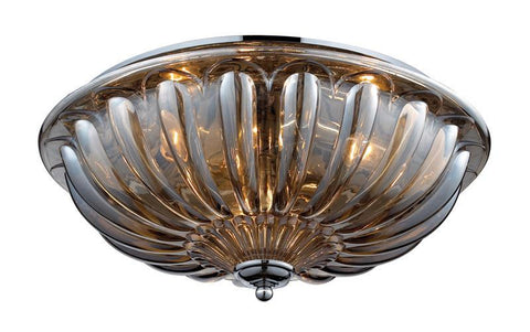 ELK Lighting Crystal Flushmounts 3- Light Flushmount In Polished Chrome - 31252/3 - PeazzLighting