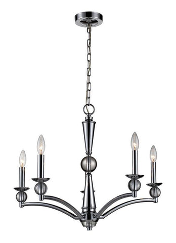 ELK Lighting Martina 5- Light Chandelier In Polished Chrome - 31288/5 - PeazzLighting
