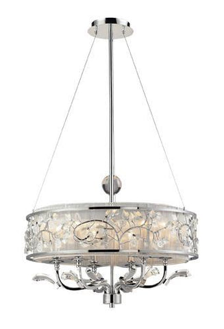 ELK Lighting Lighting 23004-6 Calista Six Light Chandelier In Polished Chrome - PeazzLighting