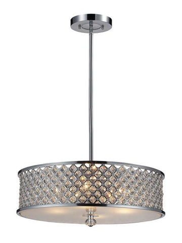 ELK Lighting Genevieve 4- Light Pendant In Polished Chrome - 31105/4 - PeazzLighting