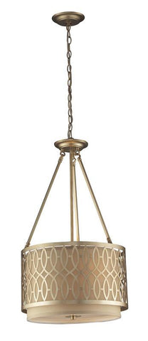 ELK Lighting Estonia 3- Light Pendant In Aged Silver - 31125/3 - PeazzLighting