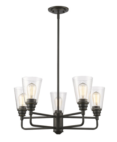 Z-Lite 428-5-OB 5 Light Chandelier - ZLiteStore