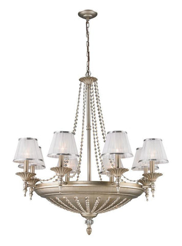 ELK Lighting Renee 14- Light Chandelier In Aged Silver - 11361/8+6 - PeazzLighting