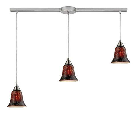 ELK Lighting Confections/Fudge 3- Light Pendant In Satin Nickel - 31130/3L-FDG - PeazzLighting