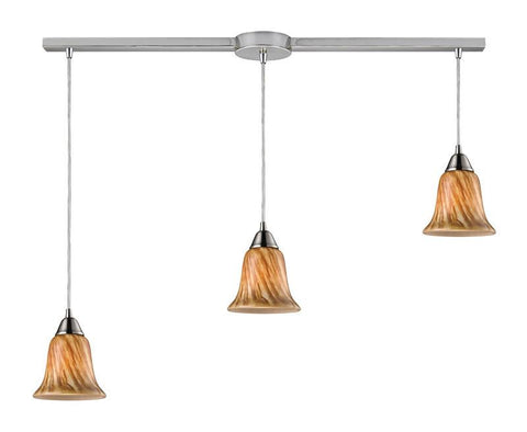 ELK Lighting Confections/Toffee 3- Light Pendant In Satin Nickel - 31130/3L-TF - PeazzLighting