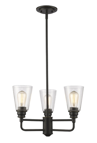 Z-Lite 428-3-OB 3 Light Chandelier - ZLiteStore
