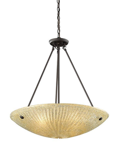 ELK Lighting Luminese 4- Light Pendant In Aged Bronze - 10282/4 - PeazzLighting