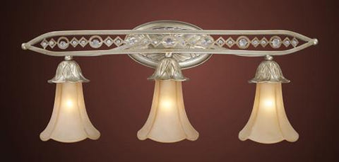 ELK Lighting 3821-3 Three Light Vanity Light With Embedded Crystal - PeazzLighting