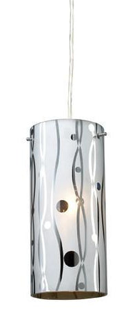ELK Lighting 31077-1 Chromia One Light Pendant In Polished Chrome - PeazzLighting