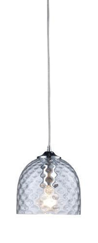 ELK Lighting 31080-1Clr Viva One Light Clear Pendant In Satin Nickel - PeazzLighting
