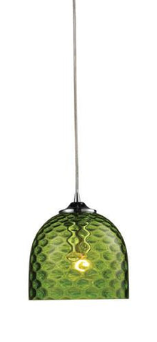 ELK Lighting 31080-1Grn Viva One Light Green Pendant In Polished Chrome - PeazzLighting