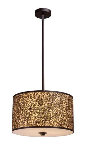 ELK Lighting 31067-3 Confetti Three Light Pendant In Aged Bronze - PeazzLighting