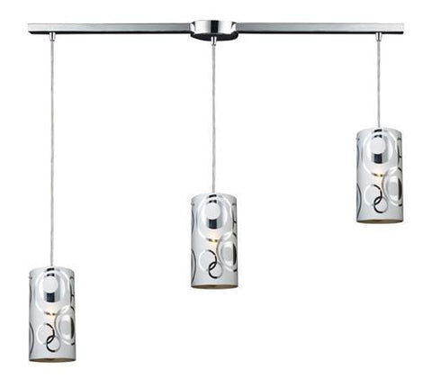 ELK Lighting 31076-3L Chromia Three Light  Pendant In Polished Chrome - PeazzLighting