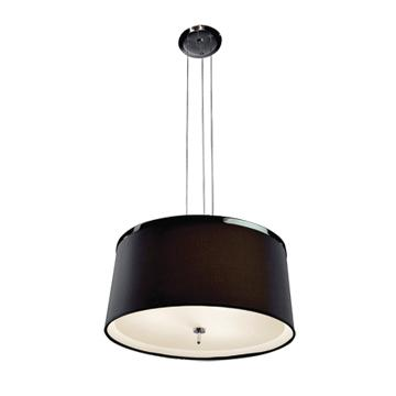 Jesco Lighting PD618-1B LEILA is a timeless classic suite featuring a beautiful black or white shade accented with a two-tone chrome and satin chrome finishes