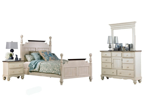 Hillsdale Furniture 1052BKRP4SET Pine Island 4 Piece Bedroom - King - HillsdaleSuperStore