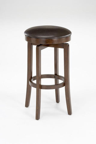 "Hillsdale O'shea 30"" Swivel Backless Barstool in Brown 63454-830 - HillsdaleSuperStore"