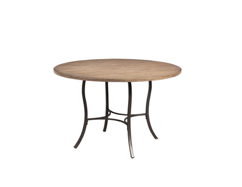 Hillsdale 4670DTB Charleston Round Metal Table w/Wood Top - HillsdaleSuperStore