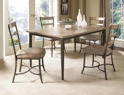 Hillsdale 4670DTBRC5 Charleston 5-Piece Rectangle Dining Set w/Ladder Back Chair - HillsdaleSuperStore