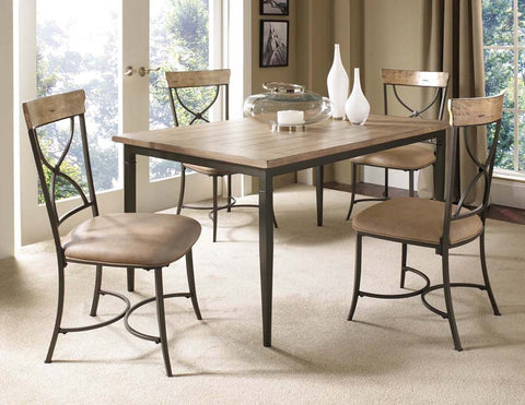 Hillsdale 4670DTBRC2 Charleston 5-Piece Rectangle Dining Set w/X-Back Chair - HillsdaleSuperStore