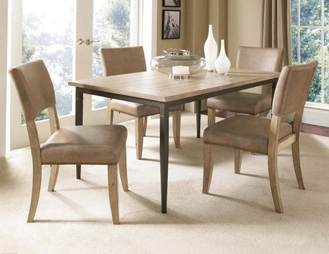 Hillsdale 4670DTBRC4 Charleston 5-Piece Rectangle Dining Set w/Parson Chair - HillsdaleSuperStore