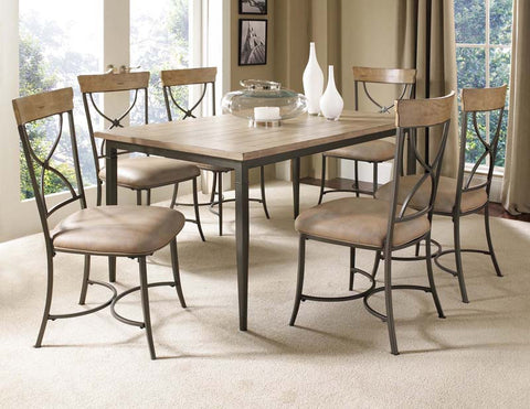 Hillsdale 4670DTBRC27 Charleston 7-Piece Rectangle Dining Set w/X-Back Chairs - HillsdaleSuperStore