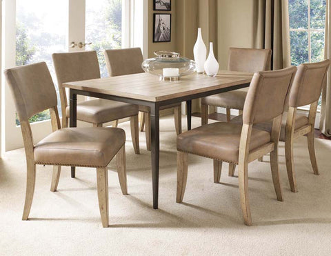 Hillsdale 4670DTBRC47 Charleston 7-Piece Rectangle Dining Set w/Parson Chair - HillsdaleSuperStore