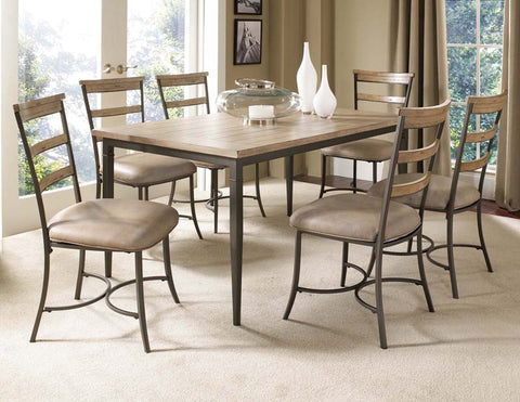 Hillsdale 4670DTBRC57 Charleston 7-Piece Rectangle Dining Set w/Ladder Back Chair - HillsdaleSuperStore