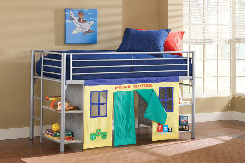 Hillsdale 1178JRLB Universal Junior Loft Bed w/Cloth Doors