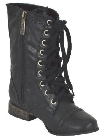Georgia-72 Mid Calf Military Combat Riding Boot - Peazz.com