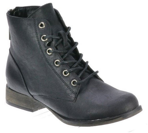 Georgia-43 Zipper Military Lace Up Bootie