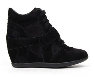 Metro-01w Suede Lace Up Wedge Sneaker