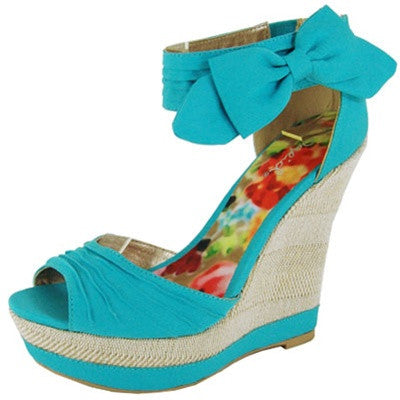 Bikini-259 One Band Ankle Strap Wedge Sandal - Peazz.com