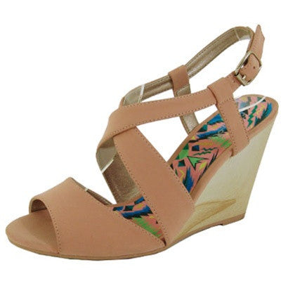 Gipsy-02X Nubuck Strappy Peep Toe Wedge - Peazz.com