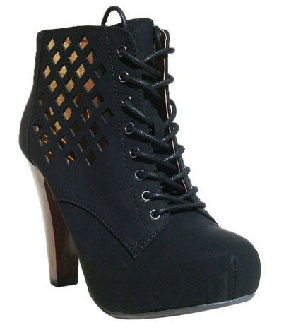 Puffin-62 Perforated Lace Up Ankle Bootie - Peazz.com