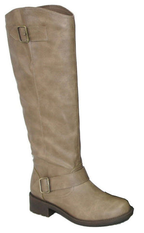 Relax-122 Buckle Round Toe Riding Knee High Boot - Peazz.com