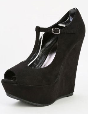 CECE-02W T-Strap Wedge - Peazz.com