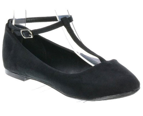 Cherry-12 T-Strap Comfort Go Everywhere Ballerina Flat - Peazz.com