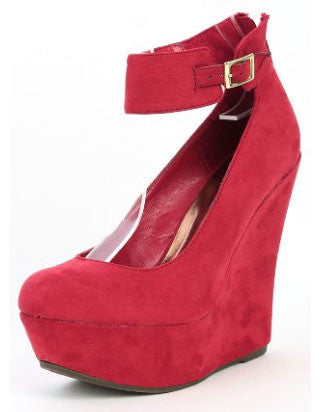 Cilo-61w Suede Wedge - Peazz.com