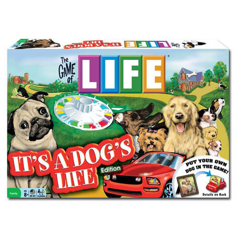 Winning Moves Games TWMG-29 The Game Of Life: It's A Dog's Life Edition - Peazz.com