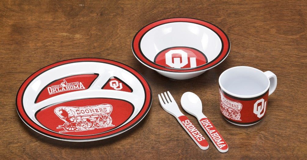 Oklahoma Sooners Kid's 5 Pc. Dish Set BSI-31019