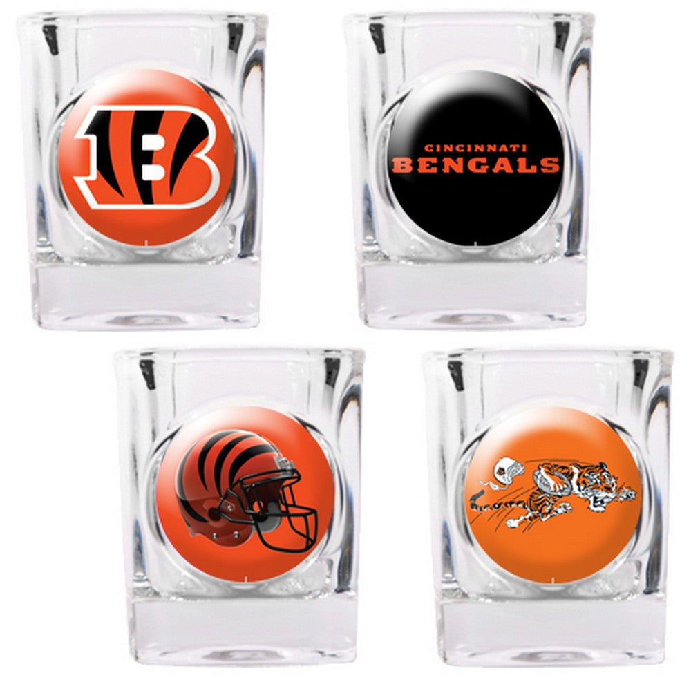 Cincinnati Bengals 4pc Collector's Shot Glass Set