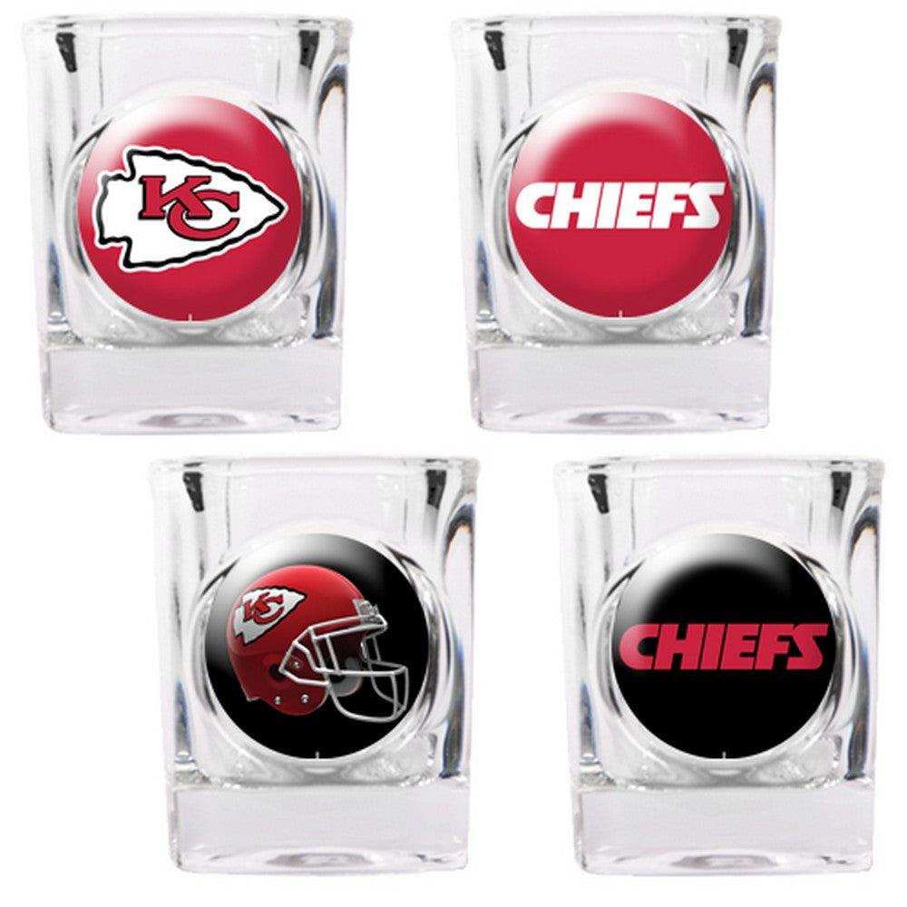 Kansas City Chiefs 4pc Collector's Shot Glass Set