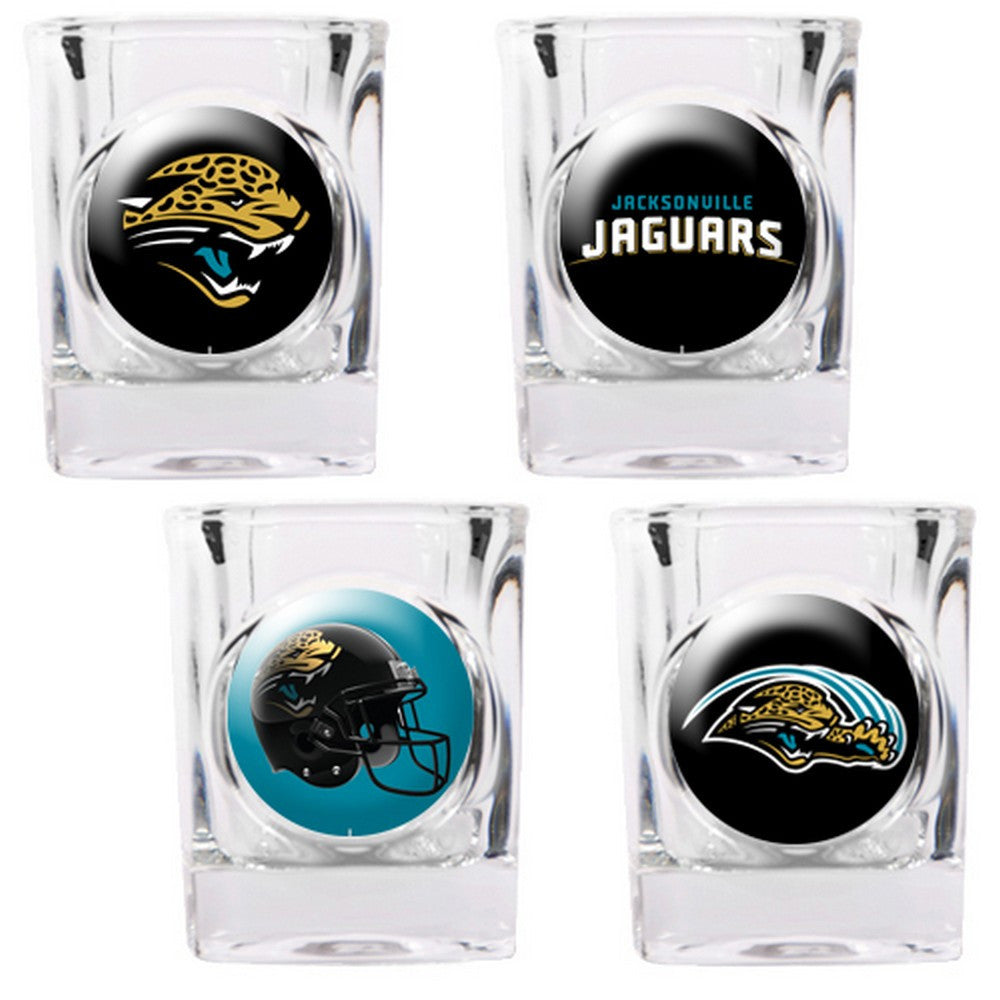 Jacksonville Jaguars 4pc Collector's Shot Glass Set BSI-41130