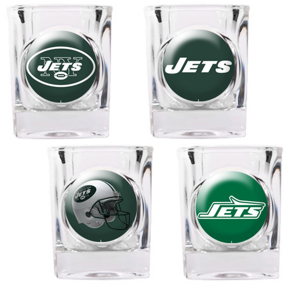 New York Jets 4pc Collector's Shot Glass Set BSI-41139