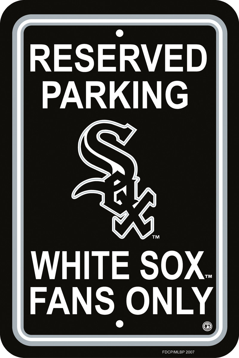 Chicago White Sox Plastic Parking Sign